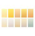 set gradient backgrounds sand color palette vector image vector image