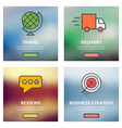 Set of flat design concepts Travel delivery vector image vector image