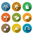 Set of Papuan Icons Savage Tropical vector image vector image