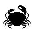 silhouette crab design element for logo vector image