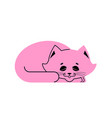 sleeping cat pink isolated kitten be asleep sleep vector image