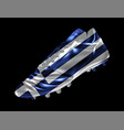 soccer football boot with the flag of greece vector image