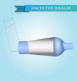 Spacer for inhaler in vector image