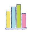 statistics graphic bar diagram design vector image vector image