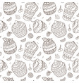 sweets and fruits pattern vector image