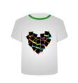 T Shirt Template- polaroid heart vector image