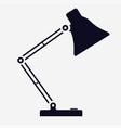 table desk lamp flat vector image