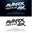 technology alphabet silver metallic and effect vector image vector image