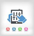 touchscreen mixer concept icon vector image