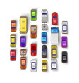 traffic jam art banner set collection vector image vector image