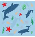 undersea world set vector image