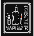 Vape banner with text Vaping allowed vector image vector image