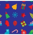 seamless pattern new year snowflakes socks mittens vector image