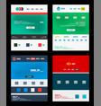 web site schemes templates set vector image