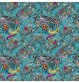 Turquoise swirl pattern vector image