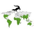 Crocodiles range vector image