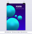3d colorful spheres vector image vector image