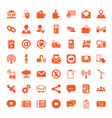 49 communication icons vector image vector image
