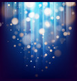 abstract bokeh background of golden light with vector image vector image