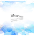 abstract geometric background blue cube vector image