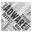 adware remover Word Cloud Concept vector image vector image