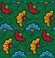 african wax print fabric ethnic handmade flowers vector image vector image
