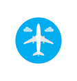 Airplane - concept icon in flat graphic design