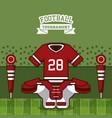 american football tournament vector image vector image