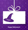 Applique card or background with magic hat vector image