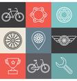 bike outline emblems vector image vector image