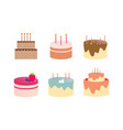 birthday cake dessert logo vector image vector image