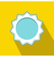 Blue blank award rosette icon flat style vector image vector image