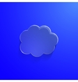 Blue eco glossy glass cloud icon vector image vector image