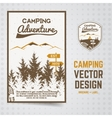 Camping adventure brochure and label The vector image vector image