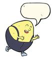 Cartoon humpty dumpty egg character with speech vector image