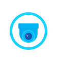 cctv camera icon on white vector image vector image