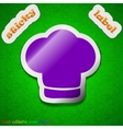 Chef hat icon sign Symbol chic colored sticky vector image