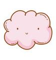 cloud smiling cartoon vector image