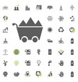 coal icon eco and alternative energy icon vector image