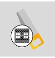 construction brick saw icon graphic vector image vector image