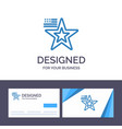 creative business card and logo template star vector image