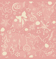 cute hand drawn winter pattern seamless pattern vector image