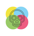 danger skull icon skull crossbones vector image