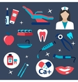 Dentistry and hygiene flat icons vector image vector image
