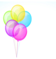 Five Birthday Celebration Balloons Isolated on vector image vector image