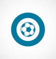 football ball bold blue border circle icon vector image vector image