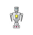 friendly cartoon robot vector image vector image