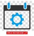 Gear Options Calendar Day Eps Icon vector image vector image