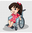 girl on wheelchair on transparent background vector image vector image