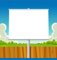 green park billboard vector image vector image